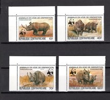 CENTRAFRIQUE N° 608 à 611  NEUFS SANS CHARNIERE COTE 12.00€  ANIMAUX WWF - República Centroafricana