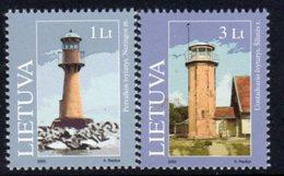 Lithuania 2003 Lighthouses Set Of 2, MNH, Ref. 20 - Lighthouses