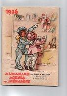DOCUMENT COMMERCIAL*ALMANACH AGENDA De La MENAGERE Offert Par Les Fils De J. PELLERIN Oullins ILLUSTRATION G.Bouret 1936 - 1900 – 1949