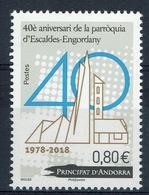 Andorra (French Adm.), Escaldes-Engordany Parish, 40th Anniv., 2018, MNH VF - French Andorra