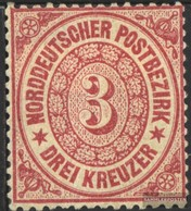 Norddeutscher Postbezirk 21 Splendor Usato 1869 Kreuzer Valuta - Norddeutscher Postbezirk