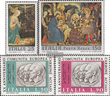 Italy 1328-1329,1333-1334 (complete.issue.) Unmounted Mint / Never Hinged 1970 Christmas, European Community - 6. 1946-.. Republic