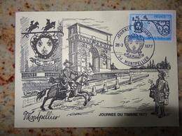 1er Jour Montpellier La Journee Du Timbre   1977 - FDC