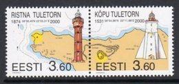 Estonia 2000 Ristna & Kopu Lighthouses Pair, MNH, Ref. 25 - Lighthouses
