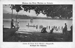 Océanie. Salomon .Arrivée Du Bateau  A Bougainville De La  Mission Des Pères Maristes       (voir Scan) - Solomon Islands