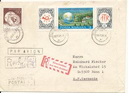Romania Registered Cover Sent To Gwermany Bucuresti 8-12-1989 - 1948-.... Republics