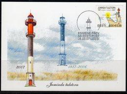 Estonia 2007 Juminda Lighthouse Maximum Card, Used, Ref. 35 - Lighthouses