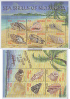 Mikronesien 1210-1221Klb 2 Sheetlet (complete Issue) Unmounted Mint / Never Hinged 2001 Mussels And Sea Snails - Micronesia