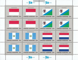 UN - New York 579Klb-594Klb Sheetlet (complete Issue) Unmounted Mint / Never Hinged 1989 Member States - Unused Stamps