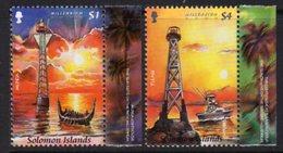 Solomon Islands 2000 Millenium Lighthouses Set Of 2, MNH, SG 961/2, Ref. 39 - Lighthouses