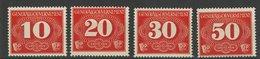 GG Michel Nr. Z1 - Z4 Postfrisch - Besetzungen 1938-45