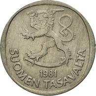 Monnaie, Finlande, Markka, 1981, TTB, Copper-nickel, KM:49a - Finlande