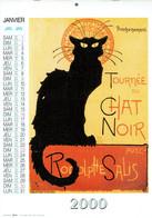Chat Noir Toulouse-Lautrec Roedel Bruant Calendrier 2000 Des Editions Artertre - Calendriers