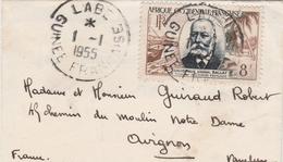 Labé 1955 Guinée Française - Enveloppe Mignonette - Timbre AOF - Brieven En Documenten