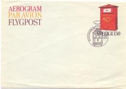 SVERIGE AEROGRAM 1976 (SET180067) - Posta Aerea