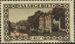 Saar D17 With Hinge 1927 Landscapes - 1920-35 League Of Nations