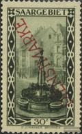 Saar D16a With Hinge 1927 Landscapes - 1920-35 League Of Nations