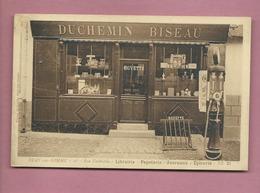 CPA  - Bray Sur Somme  - 16 Rue Faidherbe - Librairie -Papeterie - Journaux - Epicerie-(Duchemin Biseau )Pompe à Essence - Bray Sur Somme