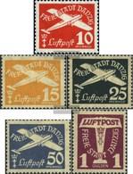 Danzig 251-255 (kompl.Ausg.) Gestempelt 1935 Flugpost - Danzig