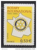 Timbre Autocollant Adhésif Neuf**  N° 52 (3750A) Rotary Club - France