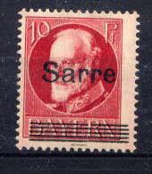 SARRE  - 19A(*) - LOUIS II - Unused Stamps