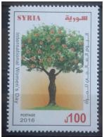 SYRIA 2016 SG 2484 MNH Stamp - International Women's Day - Orange Tree - Cv 17$ - Siria