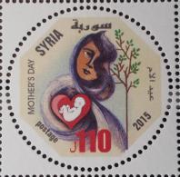 SYRIA 2015 SG 2472 MNH Stamp - Mother's Day - Round Design - Children - Heart - Cv 18$ - Syria