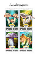 GUINEA 2018 - Mushrooms, Lady Bug. Official Issue - Insekten
