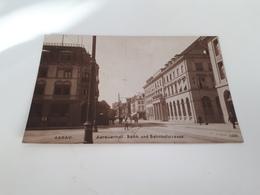 AARAU-Aarauerhof Und Bahnhofstrasse Animée Oblitérée En 1929 - AG Argovie