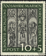 FRD (FR.Germany) 139 Unmounted Mint / Never Hinged 1951 700 Years St. Mary's Lübeck - Unused Stamps