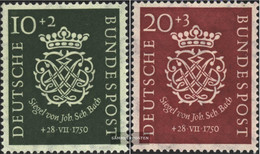 FRD (FR.Germany) Mi.-number.: 121-122 (complete Issue) Tested Unmounted Mint / Never Hinged 1950 200.Death Of Bach - [7] Federal Republic