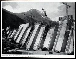 1958  --  AUSSOIS PLAN D AMONT BARRAGE EN CONSTRUCTION VUE AVAL   3P814 - Non Classificati