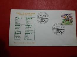 Le Brésil Enveloppe Commémoratif Mondial D'un Football 1982 - Brasil