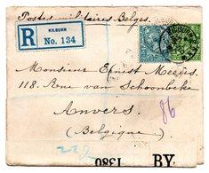 Lettre Recommandée Expédiée De Kilburn (GB) Vers Anvers (novembre 1918) - Censure Anglaise - WW I
