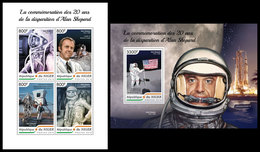 NIGER 2018 - Alan Shepard, M/S + S/S. Official Issue - Espace