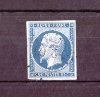FRANCE 1852 N°10 25c Bleu Napoléon Présidence OBLITERE -TB - 1852 Louis-Napoléon