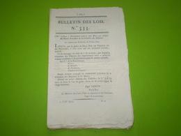 Lois 1822:Nomination Vicomte De Castelbajac,Organisation Administration Générale Des Haras & De L'agriculture, Legs.... - Décrets & Lois