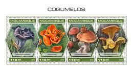 MOZAMBIQUE 2018 - Mushrooms, Grasshopper. Official Issue - Insekten