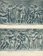 DER RHEIN  - Nationaldenkmal Auf Dem Niederwald. 2 Cards. Germany.  S-4344 - Fine Arts