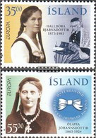 Iceland 844-845 (complete Issue) Fine Used / Cancelled 1996 Famous Women - 1944-... Republic