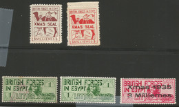 EGYPT MILITARY STAMPS - BRITISH FORCES MAIL SEALS MINT - Egypt