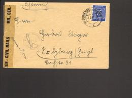 Alli.Bes. 75 Pfg.Ziffer Auf Auslandsbrief Aus Ruhland (Lausitz) N. Österreich V.1947 M.österreichischer Zensur Nr.3214 - Gemeinschaftsausgaben