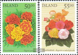 Iceland 1051-1052 (complete Issue) Unmounted Mint / Never Hinged 2004 Summer Flowers - 1944-... Republic
