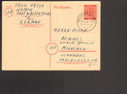 Alli.Bes.12 Pfg. Ziffer Ganzsache P 953 V. 1946 Als Fernpostkarte Aus Wasserburg (Inn) 1 - Gemeinschaftsausgaben