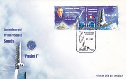 FDC. LANZAMIENTO PRIMER COHETE SONDA. OBLITERACION 2007, PERU - BLEUP - Peru