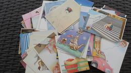 LOT  N° 348  / LOT  DE 100 CPM   THEME  PEINTRE   ILLUSTRATEURS  DIFFERENTES     10 X 15     NEUVES/ - Postcards