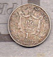 Montenegro - 1 Perper 1909 ( Argent / Silver) - Ohne Zuordnung