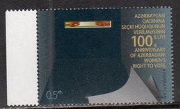 AZERBAIJAN, 2018, MNH, 100th ANNIVERSARY OF WOMEN'S VOTE, WOMAN RIGHTS, 1v - Stamps