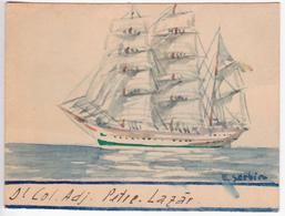 Romania , Roumanie , Drawing , Ship With Tweezers - Andere Sammlungen