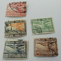 Lot 5 Timbres Siam Air Mail - Siam